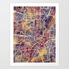 Munich Germany City Map Art Print