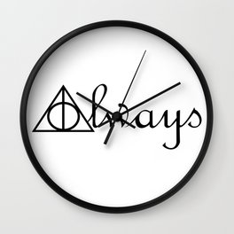 Always Deathly Hallows Symbols Wall Clock