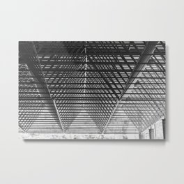 Steal triangular structure of the roof of a turkish bazaar Metal Print
