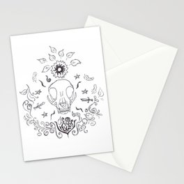 Witch Aesthetic: Skulls, Feathers and More Stationery Cards