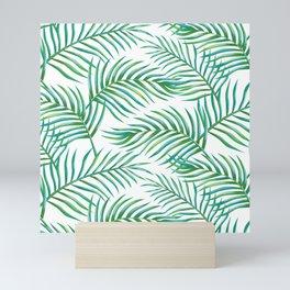 Palm Leaves_Bg White Mini Art Print