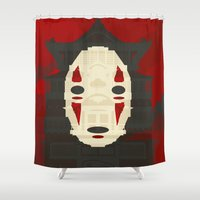 spirited away Shower Curtains featuring Spirited by Danny Haas