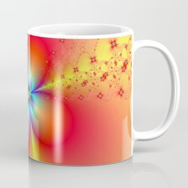 Floral Sprays in Red and Yellow Coffee Mug
