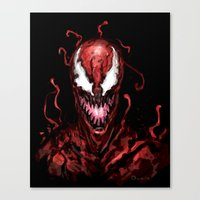 carnage Canvas Prints featuring Carnage by dariiy