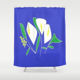A bunch of Calla Lilies Shower Curtain