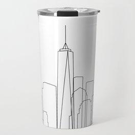 New York City Skyline Outline Travel Mug
