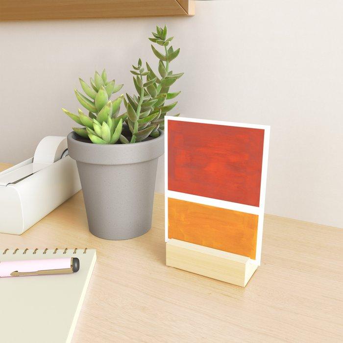 Burnt Orange Yellow Ochre Mid Century Modern Abstract Minimalist Rothko Color Field Squares Mini Art Print