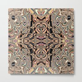 Autumnal Earth Tone Abstract Metal Print