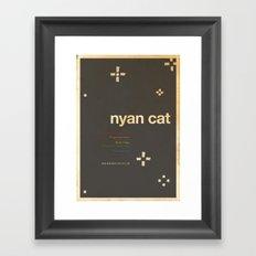 Nyan Cat - Meme Movie Posters Framed Art Print