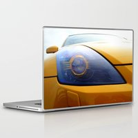 transformer Laptop & iPad Skins featuring The Eye Of A Transformer by VHS Photography