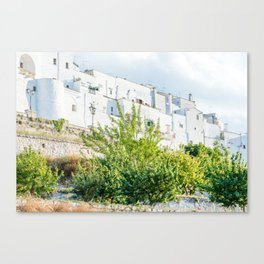 Walls of the medieval white village of Ostuni Canvas Print