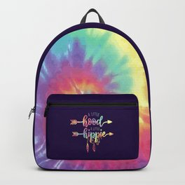 A little hood, a little hippie, quote Backpack