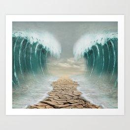 split sea Art Print