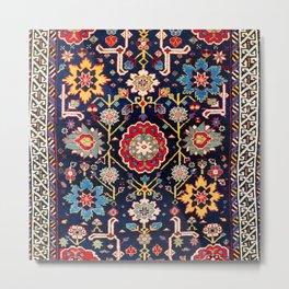 Shirvan Caucasian Afshan Antique Rug Print Metal Print