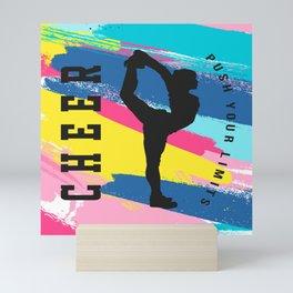 cheer push the limit colour slash 2 Mini Art Print