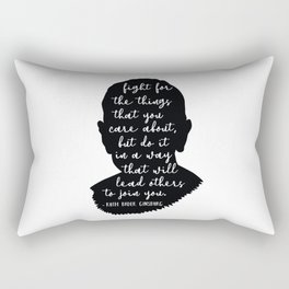 Ruth Bader Ginsburg Quote Rectangular Pillow