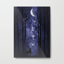 Starry Night and Moon #1 Metal Print