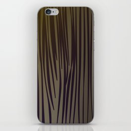 wood design Lines // Chocolate iPhone Skin