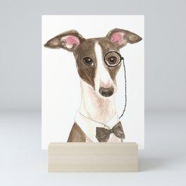 Italian Greyhound Geek Mini Art Print