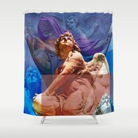 religious Shower Curtains featuring Religious Hymns of Angels by CAPTAINSILVA