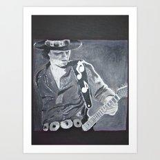Stevie Ray Vaughan - Guitar Art Print