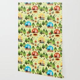 Caravan Campground Vacation Wallpaper
