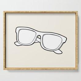 Black & white sunglasses Serving Tray