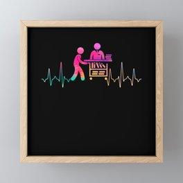 Library Framed Mini Art Print