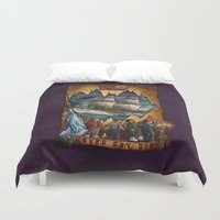 the goonies Duvet Covers featuring Goonies Never Say Die by Taylor Rose