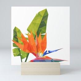 Geometric bird of paradise Mini Art Print
