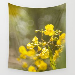 Popcorn Flower Bokeh Delight Wall Tapestry