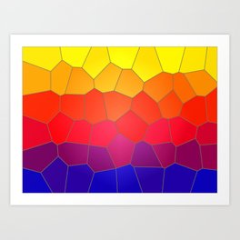 Coloured Mosaic Art Print