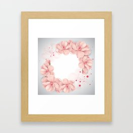 Flower crown Framed Art Print