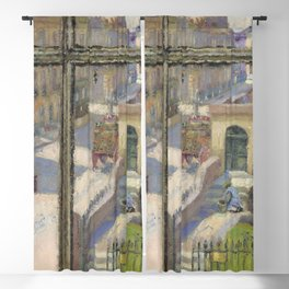 12,000pixel-500dpi - Spencer Gore - From a Window in the Hampstead Road - Digital Remastered Blackout Curtain
