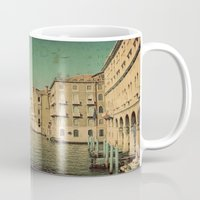 postcard Mugs featuring Venice postcard by Sylvia Cook Photography