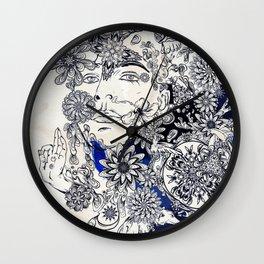 Moonlight Fountain Wall Clock