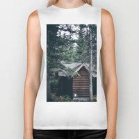 cabin Biker Tanks featuring Cabin by Garrett Lockhart