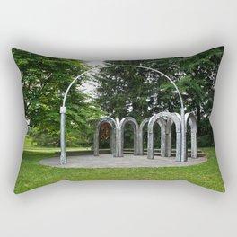 An Arch in the Garden Rectangular Pillow