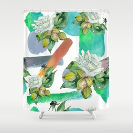 Floral Bouquet in Contemporary and Modern Designs Shower Curtain