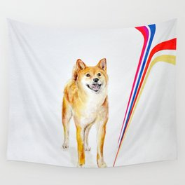 Shiva inu Lighting Wall Tapestry