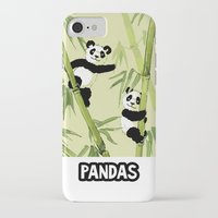 pandas iPhone & iPod Cases featuring Pandas by Volha