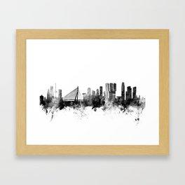 Rotterdam The Netherlands Skyline Framed Art Print