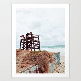 Beach Seats Art Print
