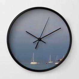 seascape: sei barche a S'ant Angelo Wall Clock