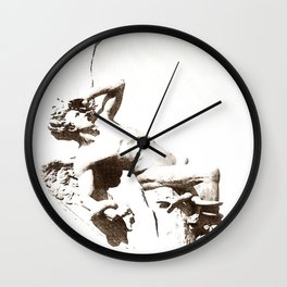 The Fallen Angel Wall Clock