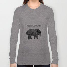 Buddha Quote with Henna Elephant Long Sleeve T-shirt