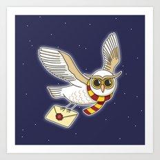 Owl Post Art Print