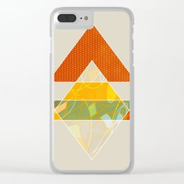 shapes geometry modern minimal Clear iPhone Case