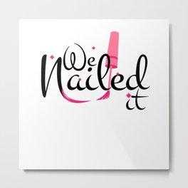 Nail Hustler - Nail Design Nail Studio Metal Print