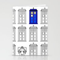 tardis Stationery Cards featuring Tardis by Megan Twisted